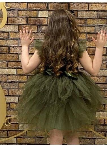 Riccotarz Kız Çocuk Omzu Tütülü Kabarık Abiye Yeşil